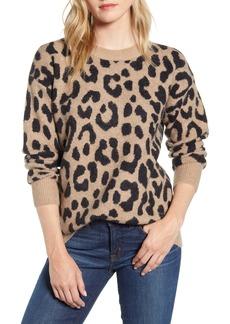 J.Crew Leopard Print Crewneck Sweater