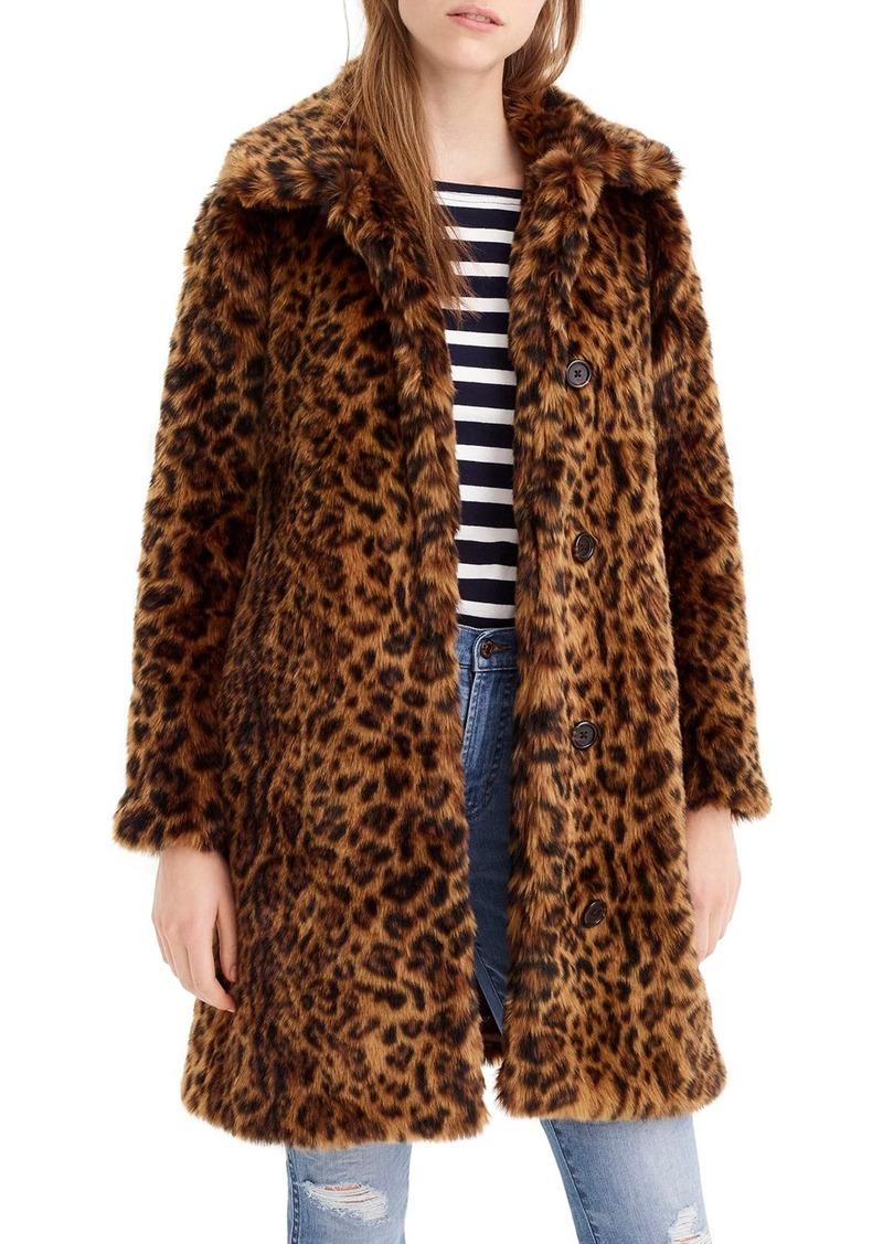5280a0dff55 SALE! J.Crew J.Crew Leopard Print Faux Fur Coat (Regular   Plus Size)