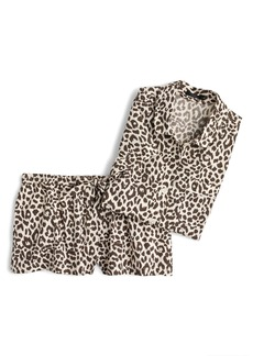 J.Crew Leopard Print Cotton Pajamas