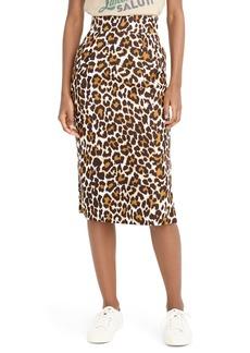 b7703ac0be J.Crew Leopard Print Pencil Skirt