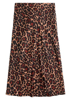 J.Crew Leopard Print Pull-On Slip Skirt