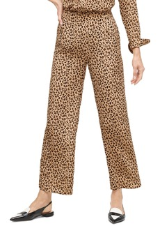 J.Crew Leopard Print Relaxed Pull-On Crop Pants