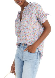 J.Crew Liberty® Favourite Flowers Ruffle Classic Popover Shirt (Regular & Plus Size)
