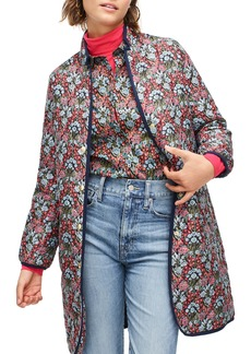 J.Crew Liberty® Floral Quilted Puffer Jacket with PrimaLoft®