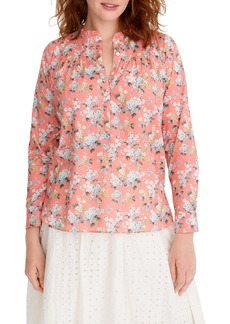 J.Crew Liberty® Josephine Floral Ruffle Popover Shirt