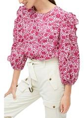 J.Crew Liberty® Sambourne Floral Ruffle Sleeve Top