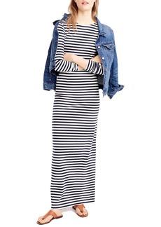 J.Crew Long Sleeve Stripe Maxi Dress