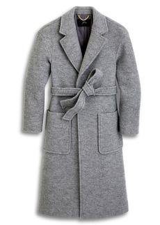 J.Crew Long Wrap Coat in Italian Boiled Wool