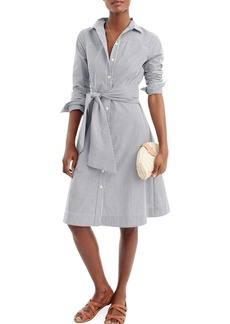 J.Crew Maribou Stripe Cotton Shirtdress (Regular & Petite)