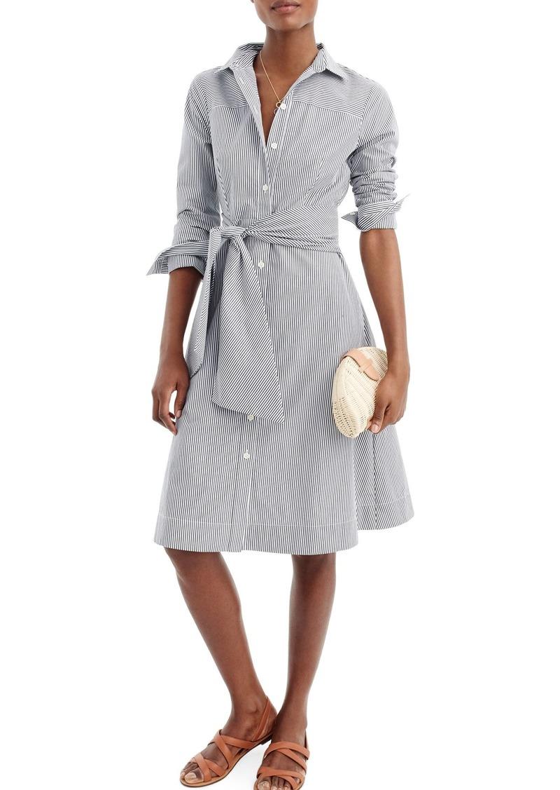 J.Crew Maribou Stripe Cotton Shirtdress (Regular & Petite)