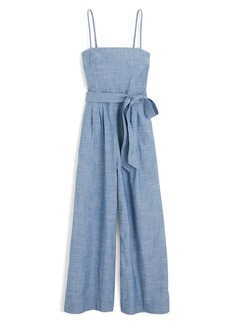 J.Crew Marseille Cotton Chambray Jumpsuit (Regular and Petite)