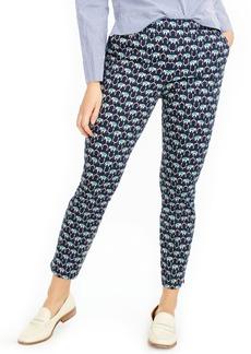 J.Crew Martie Elephant Print Slim Crop Pants