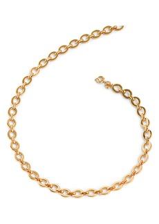 J.Crew Matte Goldtone Oval Link Necklace