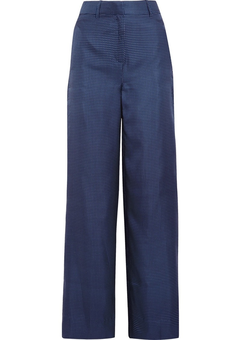 4b64896299 J.Crew J.Crew Melancholy polka-dot silk wide-leg pants Now $68.00