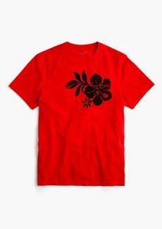 J.Crew Mercantile Broken-in flower graphic T-shirt