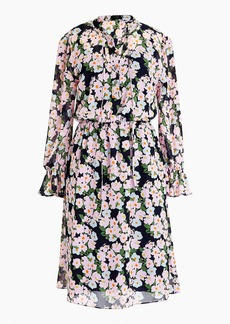 J.Crew Mercantile drapey tie-front dress in French floral