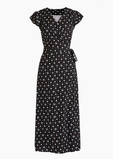 J.Crew Mercantile easy wrap dress in blue-and-white daisies