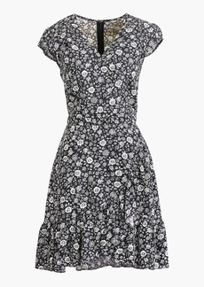 J.Crew Mercantile faux-wrap mini dress in blossom