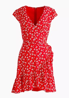 Tall J.Crew Mercantile faux-wrap mini dress in fresh daisies