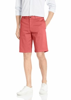 "J.Crew Mercantile Men's 11"" Inseam Flat-Front Stretch Chino Short Dusty red"