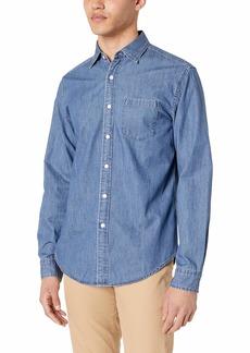J.Crew Mercantile Men's Classic-Fit Long-Sleeve Chambray Shirt  Wash M