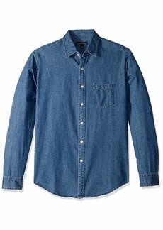 J.Crew Mercantile Men's Classic-Fit Long-Sleeve Chambray Shirt  XXL