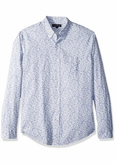 J.Crew Mercantile Men's Classic-Fit Long-Sleeve Stretch Printed Floral Poplin Shirt Cragmore Peri Salt XXL