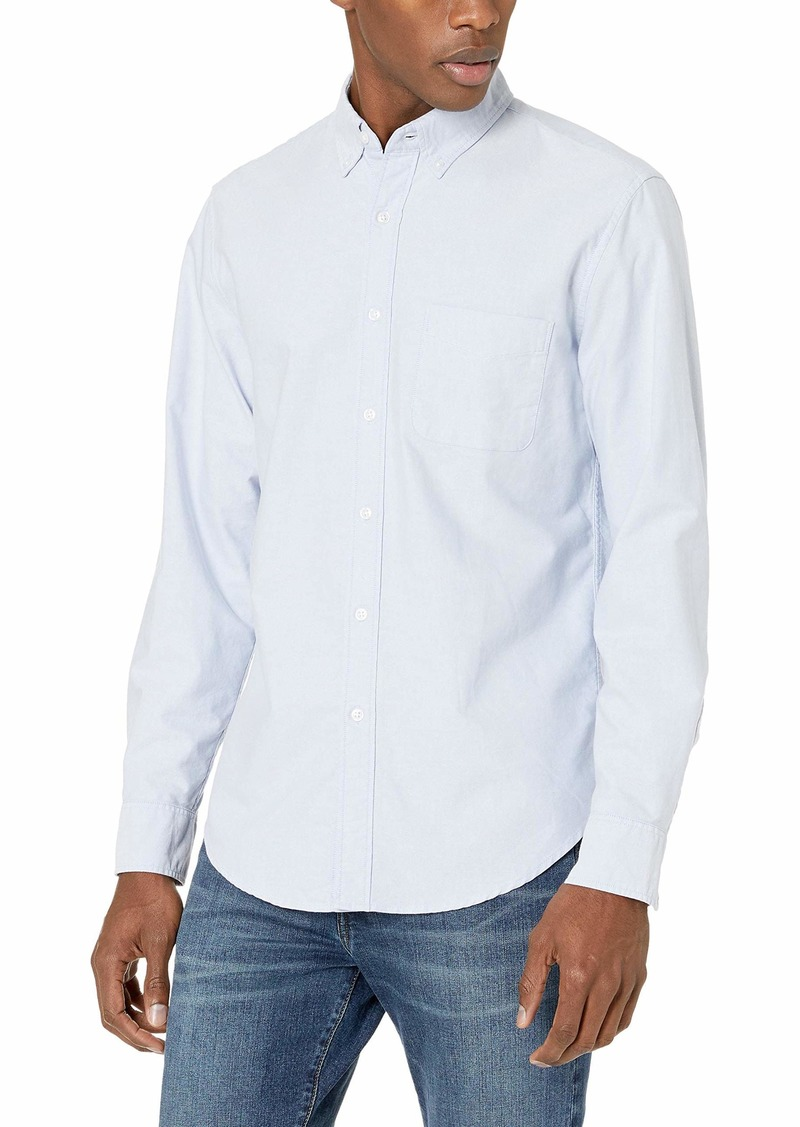 J.Crew Mercantile Men's Classic-Fit Long-Sleeve Stretch Solid Oxford Shirt  M