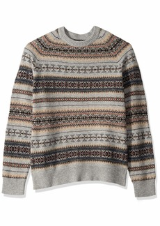 J.Crew Mercantile Men's Fair Isle Lambswool-Nylon Crewneck Sweater  M