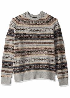J.Crew Mercantile Men's Fair Isle Lambswool-Nylon Crewneck Sweater  M