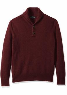 J.Crew Mercantile Men's Lambswool-Nylon Shawl Collar Sweater  S