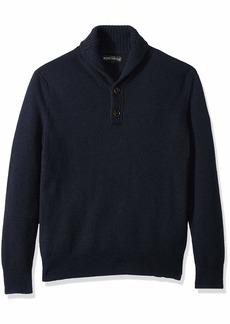J.Crew Mercantile Men's Lambswool-Nylon Shawl Collar Sweater  XS