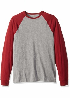 J.Crew Mercantile Men's Long-Sleeve Baseball T-Shirt Heather red Maple S