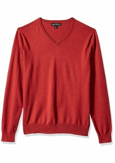 J.Crew Mercantile Men's Long-Sleeve Cotton V-Neck Sweater Heather red Rock L