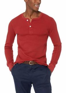 J.Crew Mercantile Men's Long-Sleeve Thermal Henley red Maple L
