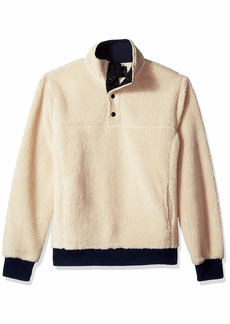 J.Crew Mercantile Men's Sherpa Fleece Mock Neck Pullover  XL