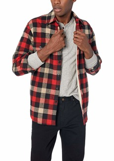 J.Crew Mercantile Men's Sherpa Lined Plaid Shirt Jacket barn S