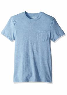 J.Crew Mercantile Men's Short-Sleeve Heathered Crewneck Pocket T-Shirt River M