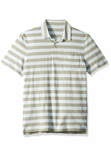 J.Crew Mercantile Men's Short-Sleeve Striped Polo Shirt Davenport Quarry Sky L