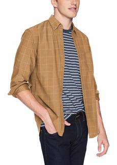 J.Crew Mercantile Men's Slim-Fit Long-Sleeve Brushed Twill Shirt Heather rye S