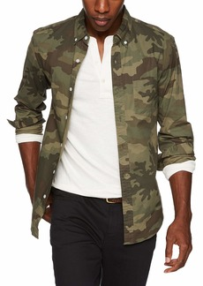 J.Crew Mercantile Men's Slim-Fit Long-Sleeve Camo Shirt Classic XL