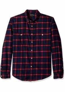 J.Crew Mercantile Men's Slim-Fit Long-Sleeve Flannel Plaid Shirt  L