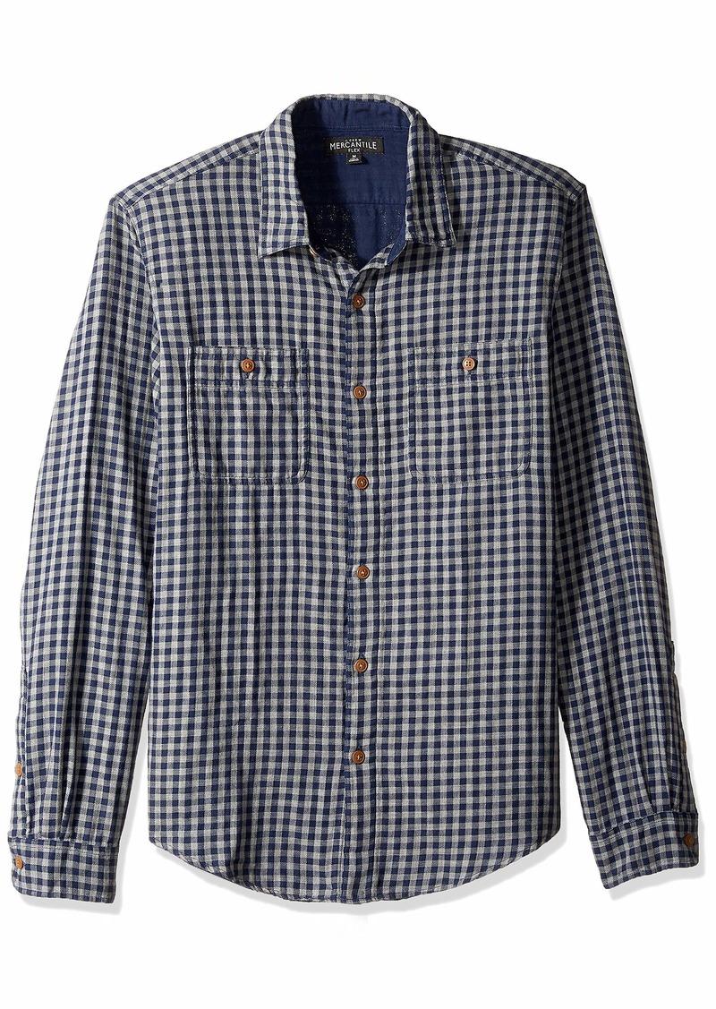 J.Crew Mercantile Men's Slim-Fit Long-Sleeve Flannel Plaid Shirt  M
