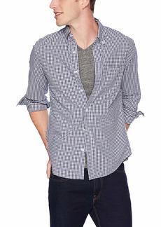 J.Crew Mercantile Men's Slim-Fit Long-Sleeve Gingham Shirt Navy S
