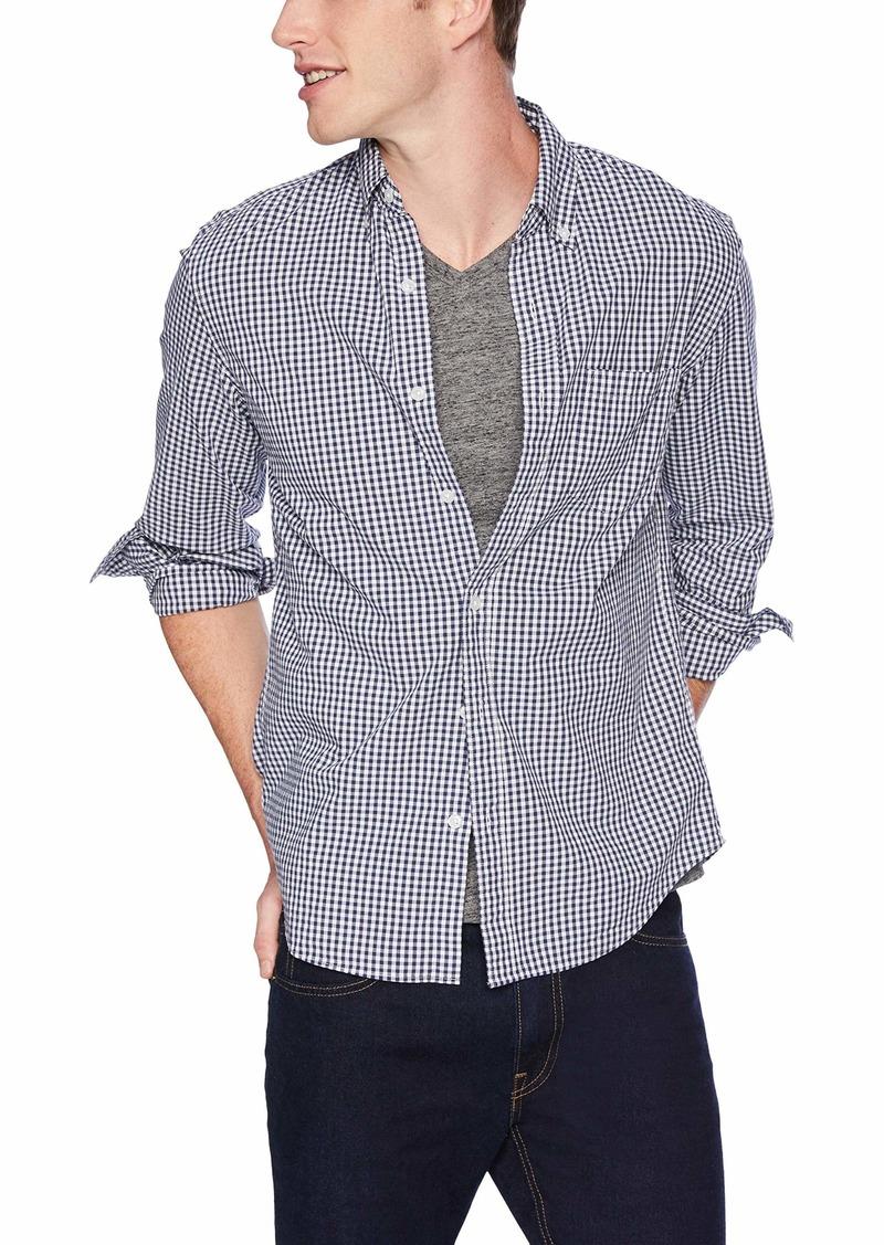 J.Crew Mercantile Men's Slim-Fit Long-Sleeve Gingham Shirt Navy XS