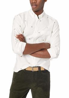 J.Crew Mercantile Men's Slim-Fit Long-Sleeve Graphic Oxford Shirt  XS