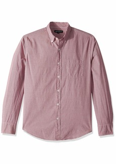 J.Crew Mercantile Men's Slim-Fit Long-Sleeve Micro Gingham Shirt  L