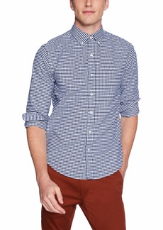 J.Crew Mercantile Men's Slim-Fit Long-Sleeve Oxford Gingham Shirt Dark Royal S