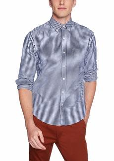 J.Crew Mercantile Men's Slim-Fit Long-Sleeve Oxford Gingham Shirt Dark Royal XL