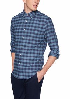 J.Crew Mercantile Men's Slim-Fit Long-Sleeve Oxford Gingham Shirt iced Bourbon XS